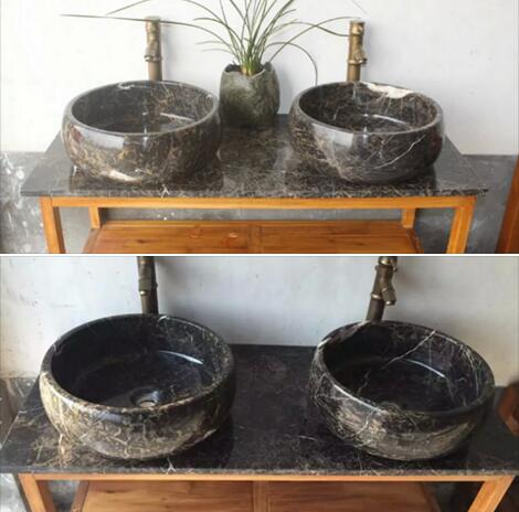 Brown Marble Sink Natural Stone Sink Marble Wash Basin