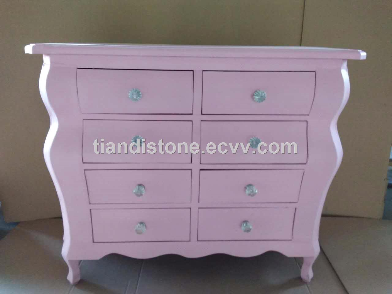 New Arrival: Solida Wood Rosa Painting Surface Cabinet