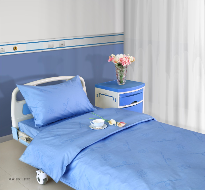 Pure Color Hospital Bed Sheet Set Bed Sheet Pillow Case