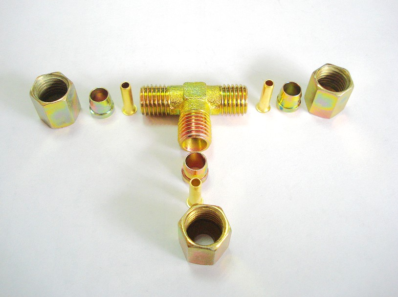 Brass fitting set inserts sleeve ferrule nuts insert