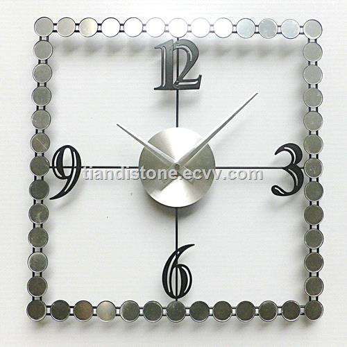 High Quality Customized Metal Square Silver Wall Clock( Customized color, size & designs)
