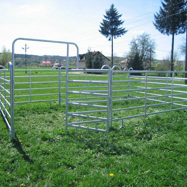 Portable Aluminum Fencing : Oval tube cattle fence panel portable metal