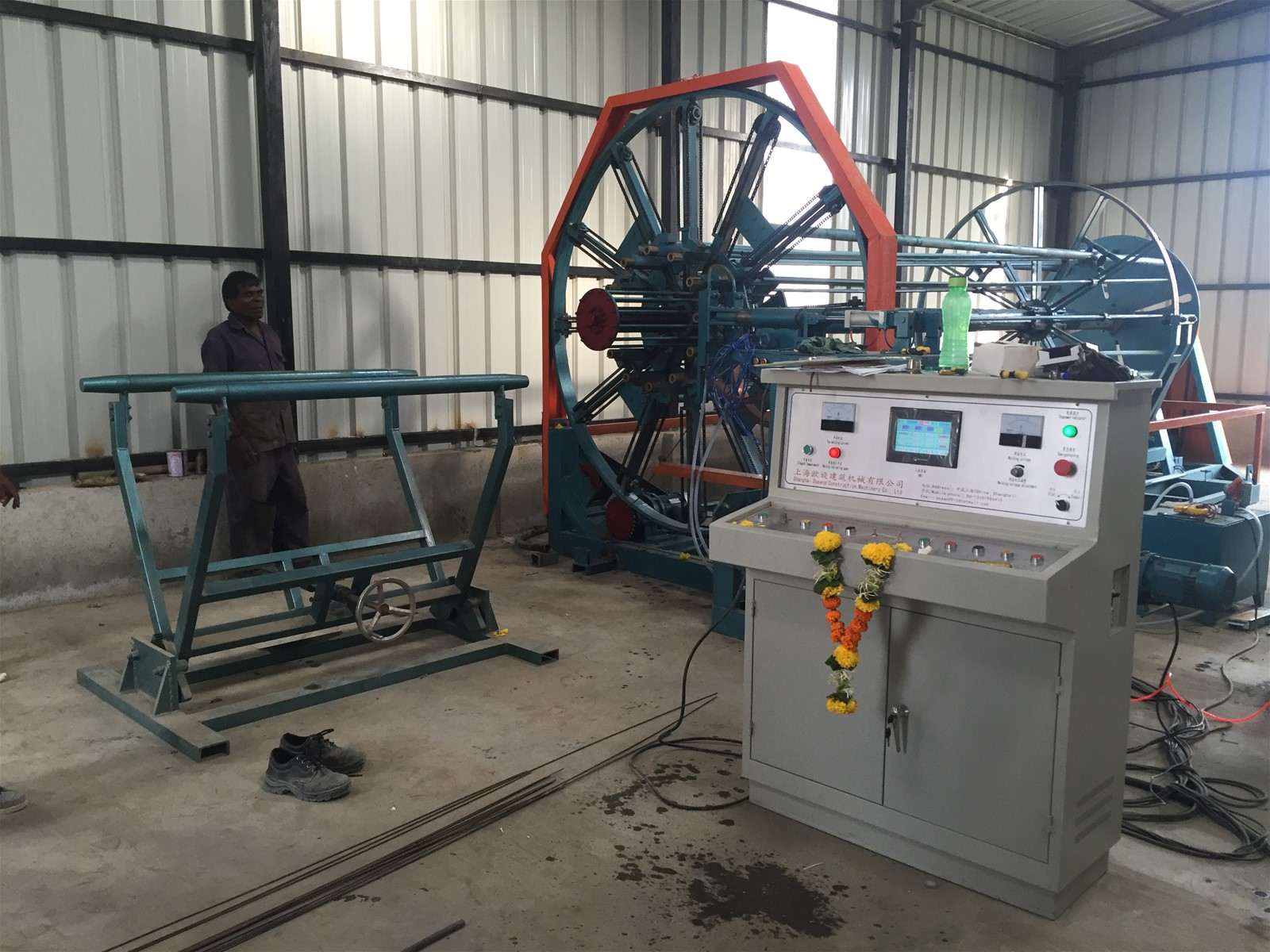Steel cage machine for concrete pipe plant purchasing for Mineral wool pipe insulation weight per foot
