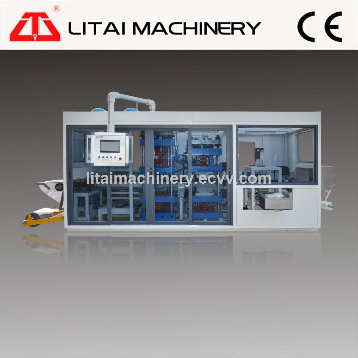Automatic Three/Four Station Fast Food Box Thermoforming Making Machine