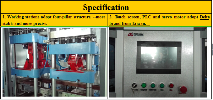 Threestation Container Thermoforming Machine