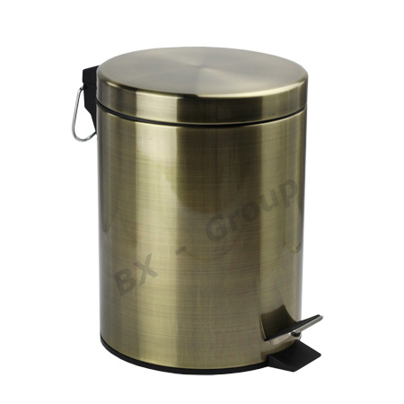 Galvanized stainless steel round pedal dustbin purchasing for Ceramic bathroom bin