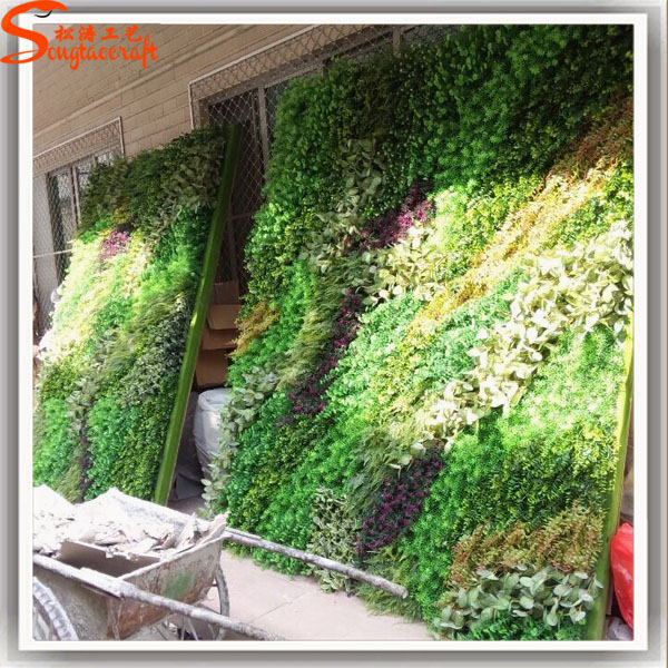 Large production artificial green wall grass wall for for Jardin vertical artificial
