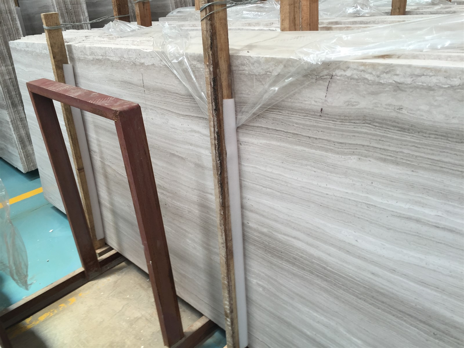 Chinese White wooden marble or named White Serpeggiante Marble Tile & Slab