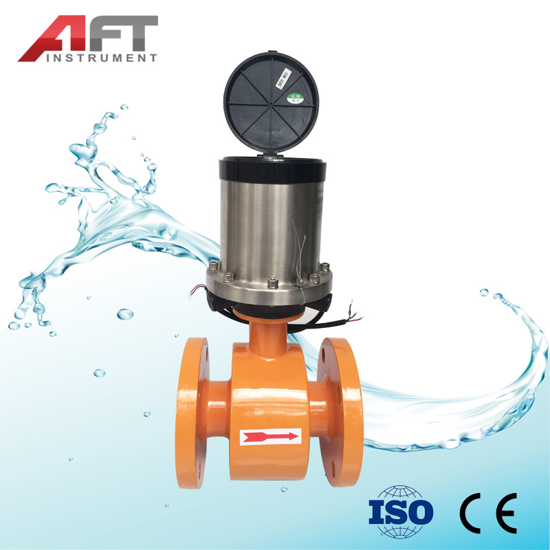Dn100 Battery Powered Rs485 Electromagnetic Flowmeter