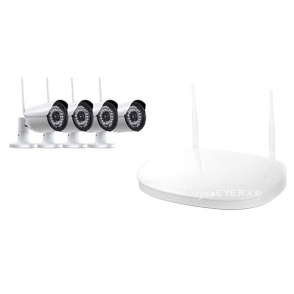 2ch 4ch 720p nvr wireless kitWiFi nvr ip camera plug play
