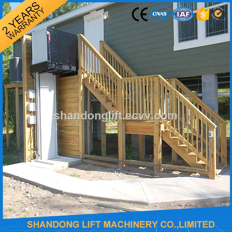 Hydraulic Vertical Platform Home Lift Elevator For Sale