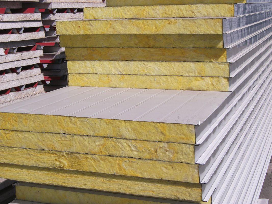 Fireproof Metal Panels : Fireproof rockwool sandwich panels for wall purchasing