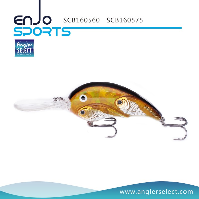 Angler select school fish crankbait deep diving fishing for School of fish lure