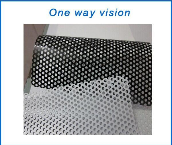High Quality Printing Material Economical Trilayers 70gsm 120micron One Way Vision For UV