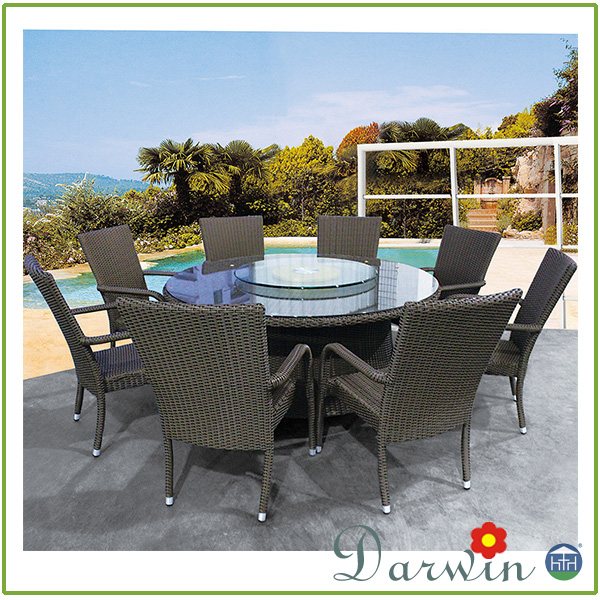 Outdoor Furniture Used Rattan Wicker Dining Sets Table And