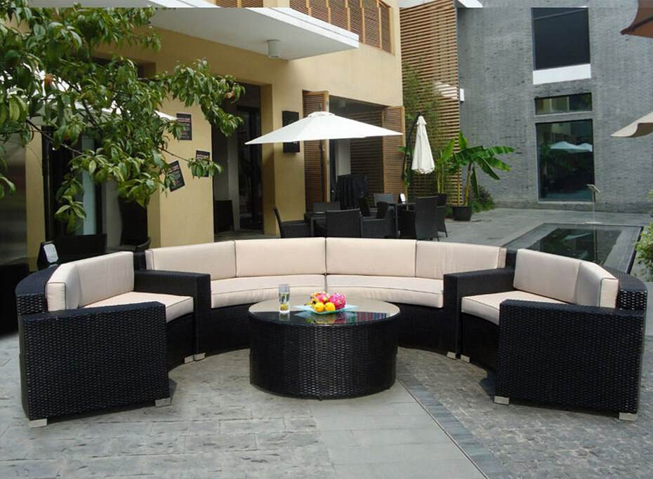 Rattan Outdoor wicker garden sofa furniture