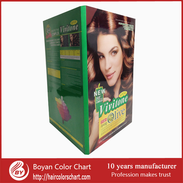 Multi Colors Hair Color Chart Green Surface Hair Color Chart