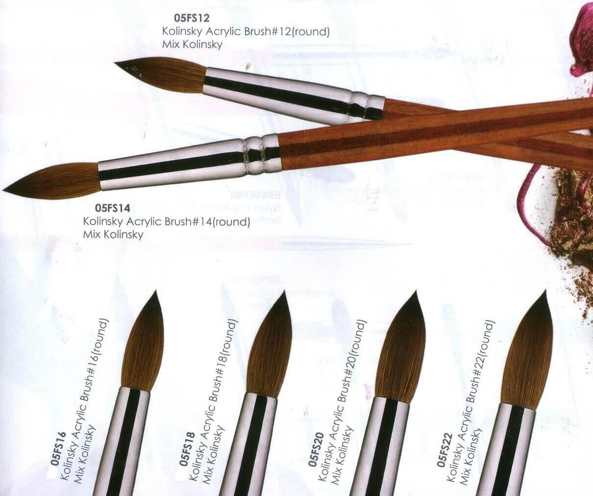 Eeesa Premium Pure Kolinskye Big Size Acrylic Nail Brush Beauty Sets ...