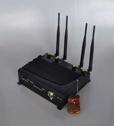 Camera jammer price - Adjustable 4 Band Desktop Mobile Phone Jammer with Remote Control