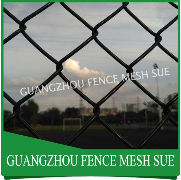 Anti rust vinyl coated chain fencing black vinyl fencing price