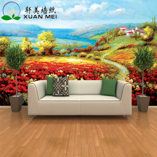 Quality customizable 3d interior home decoration custom for Custom size wall mural