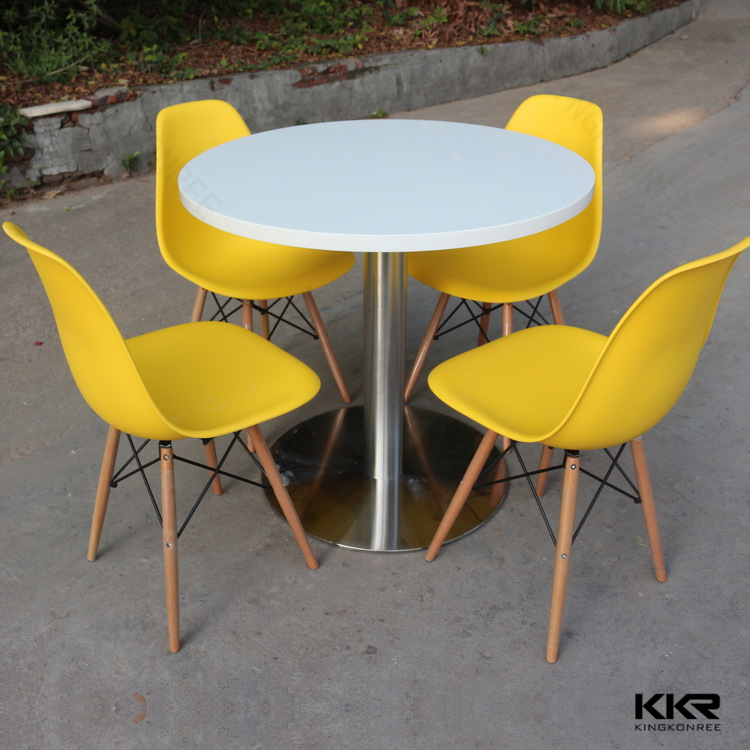 Artificial solid surface restaurant table and chair