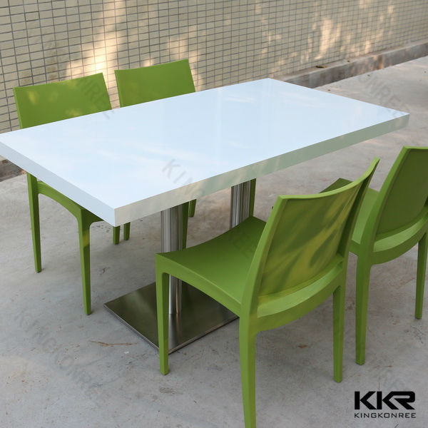 Restaurant table and chair solid surface dining table for Table 99 restaurant