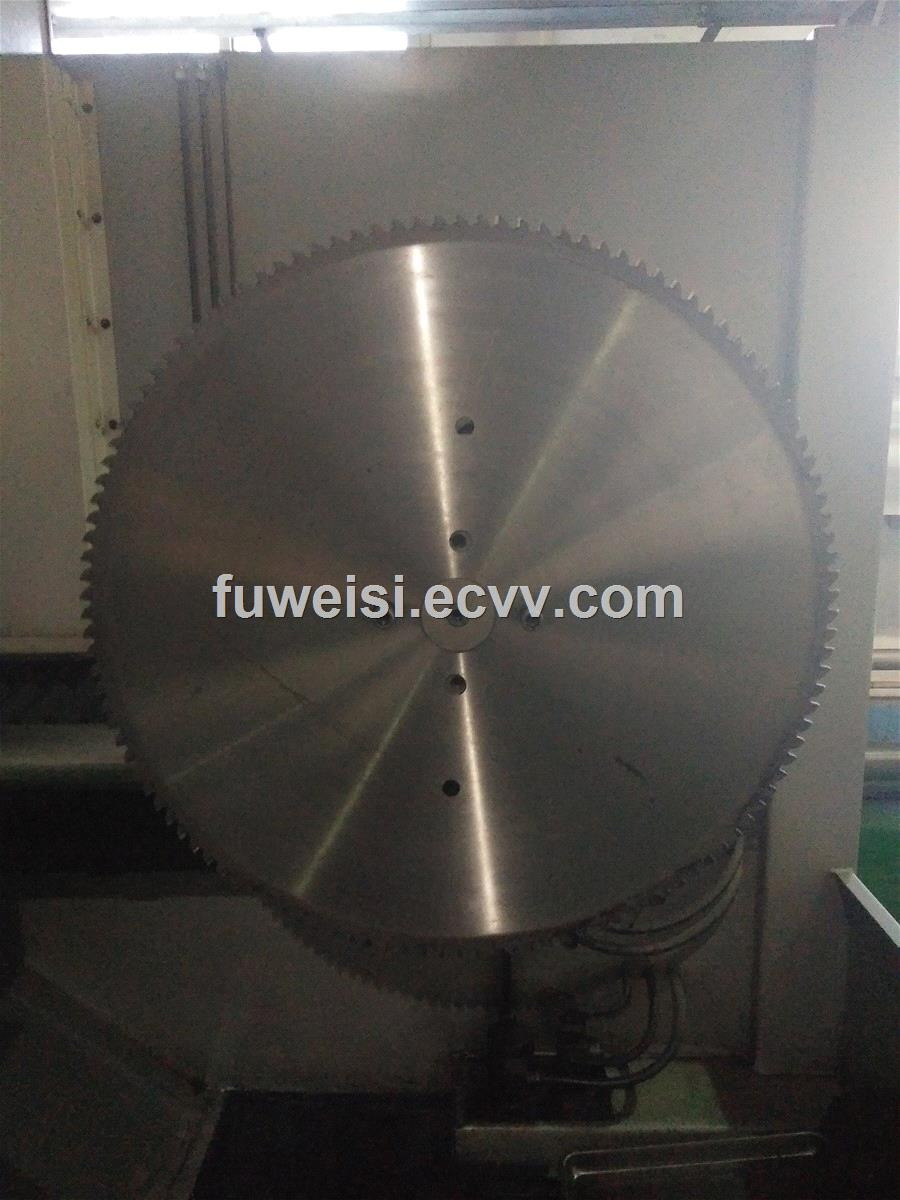 TCT saw blade for cutting steel billet