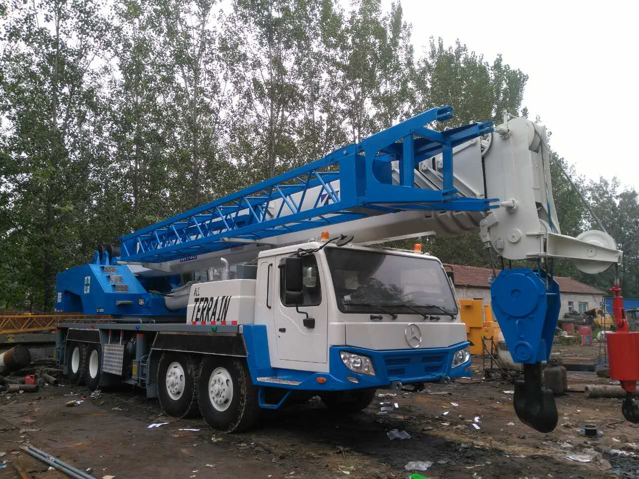 Mobile Crane Engine : Five boom benz engine ton tadano used mobile crane for