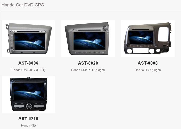 Professional OEM in Dash Auto Sat Navigation System Honda ...