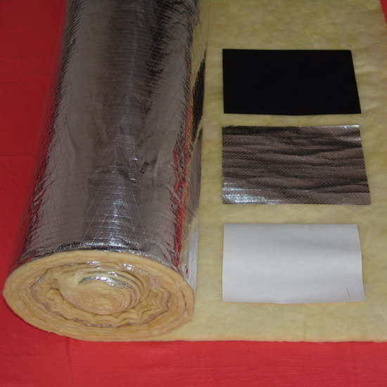 Good quality insulation glass wool blanket wifh foil for Glass fiber blanket insulation