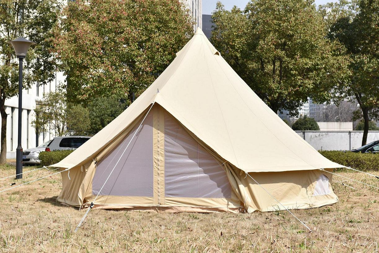 6m outdoor canvas bell tent purchasing souring agent for Canvas platform tents