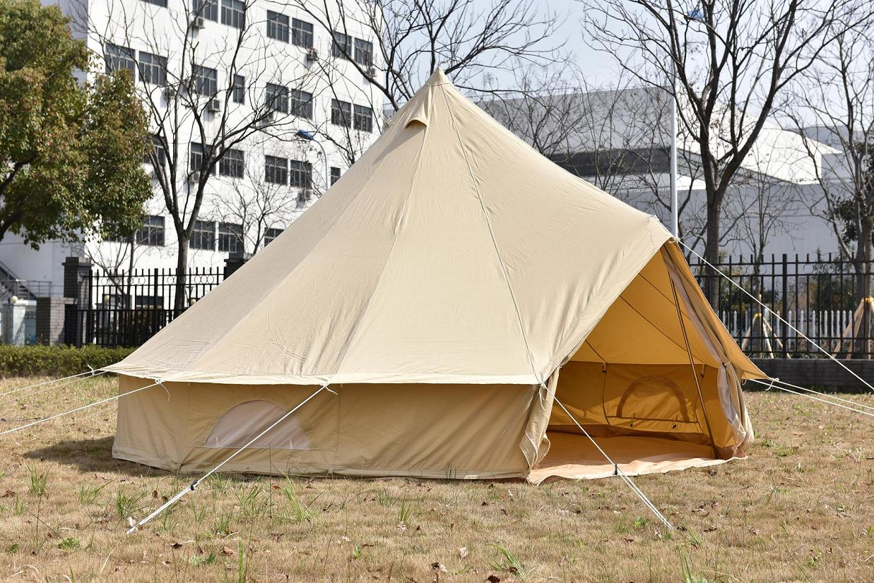 4m outdoor camping canvas bell tent purchasing souring for Canvas platform tents