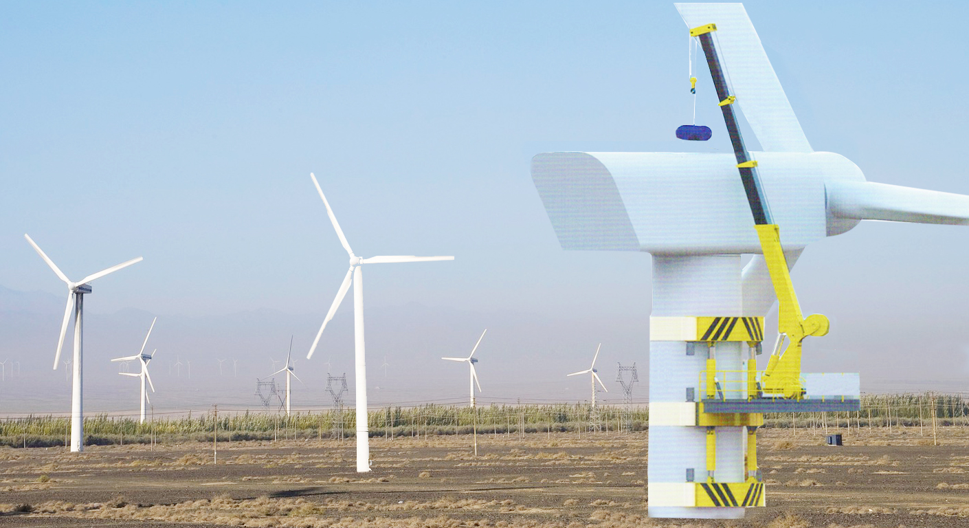 Wind Power Turbine Generator Maintenance Crane