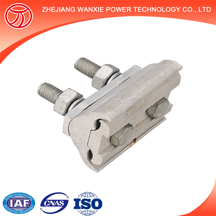 Parallel groove clamps wire connector guy cable