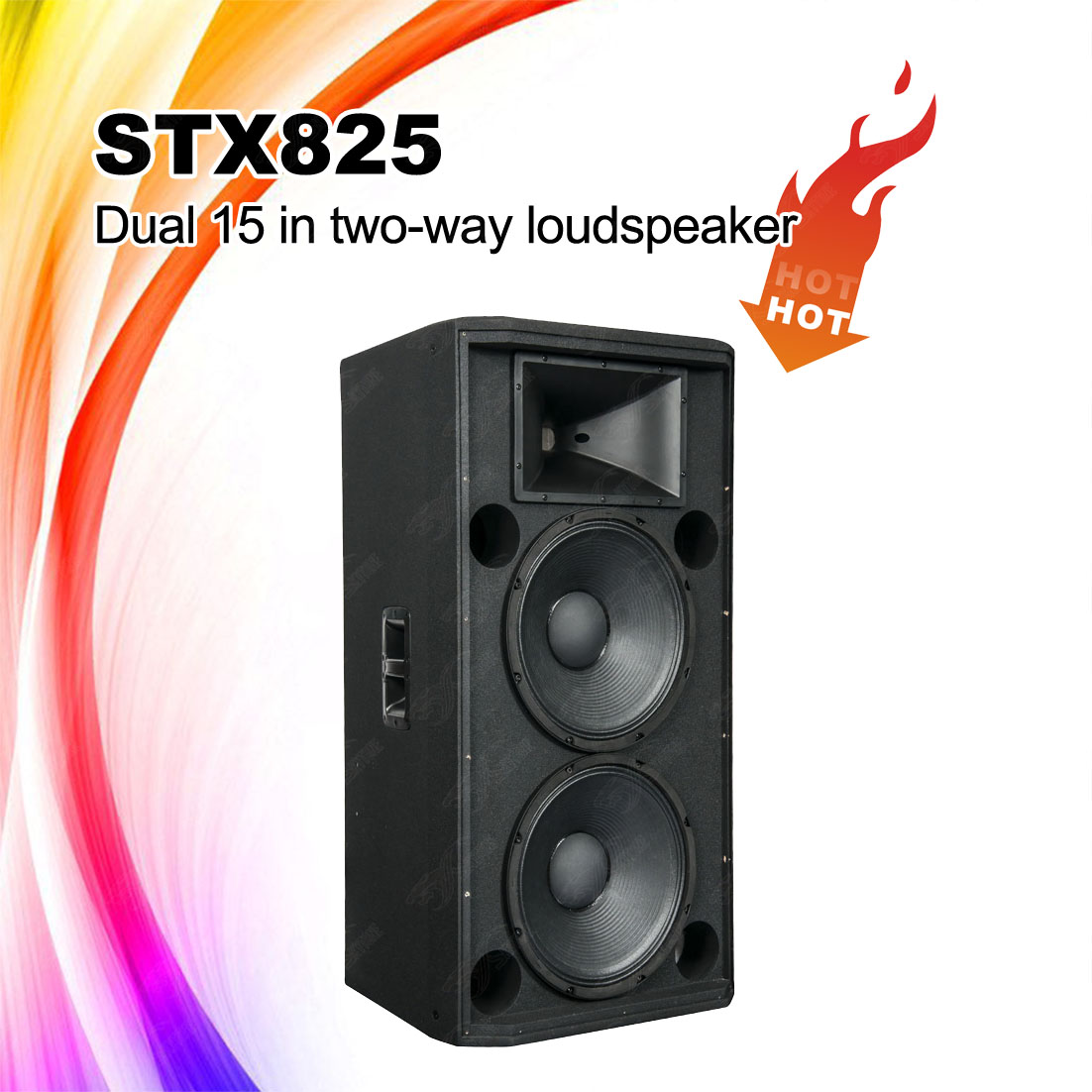 STX825 Dual 15inch Dj Sound Speaker Box PA Speaker System
