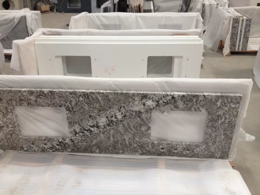 Double Undermount Sink Granite Prefab Bathroom Countertop Purchasing Souring Agent