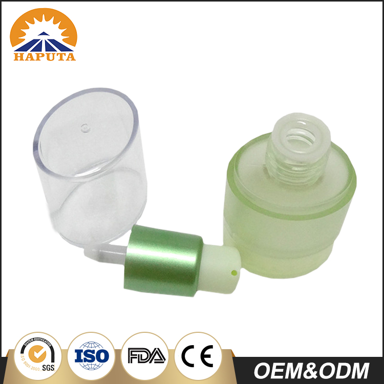 50ml Frosted Fancy Plastic Airless Bottle With Clear Cap