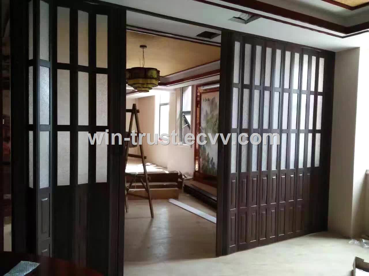 Commercial accordion folding doors frameless polycarbonate folding door pvc folding door for Commercial accordion doors interior
