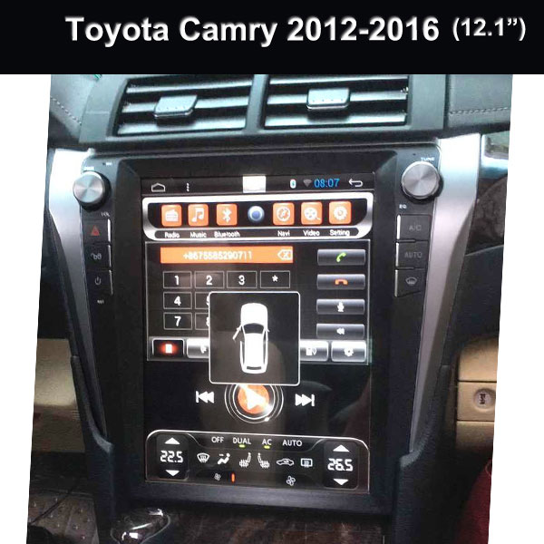 Toyota Car Original Radio System Wholesale 12.1 Inch 2Din GPS/Mirror Link/OBD2/WiFi for Camry 2012 2016