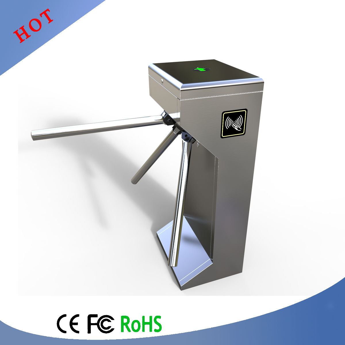 Vertical type access control system for entrance tripod for Acces vertical