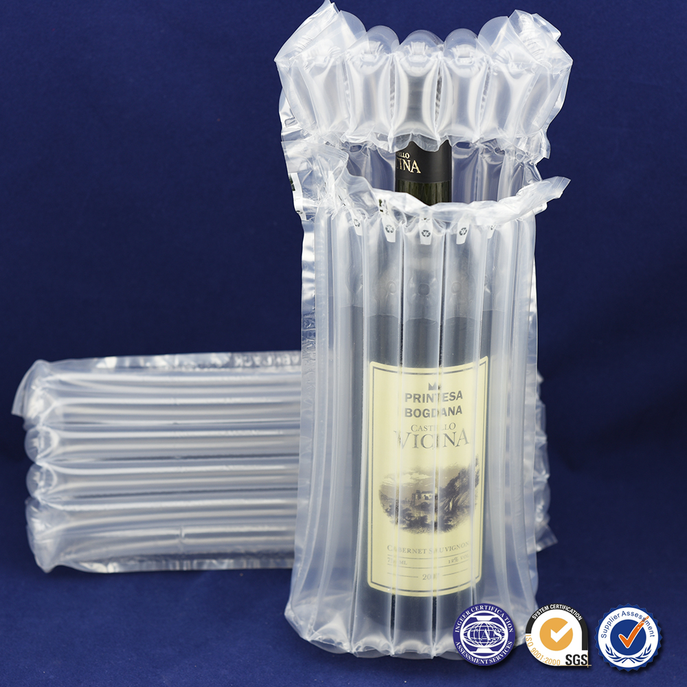 Air Bubble Bags Plastic Air Packaging Bag For Wine Bottle