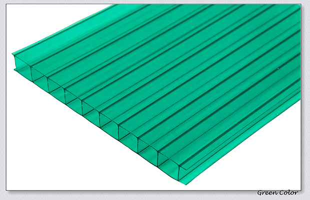 Green House Uv Blocking Twin Wall Polycarbonate Sheet With