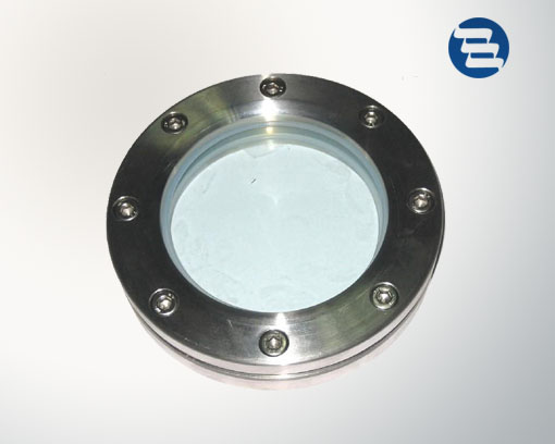 Stainless steel sanitary tank facility flanged sight glass