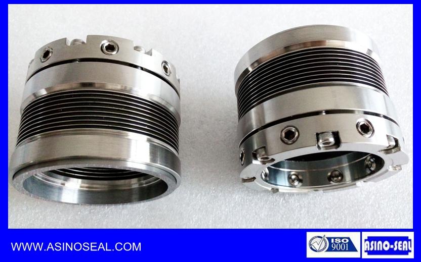 As bj mechanical shaft seal metal bellows johncrane