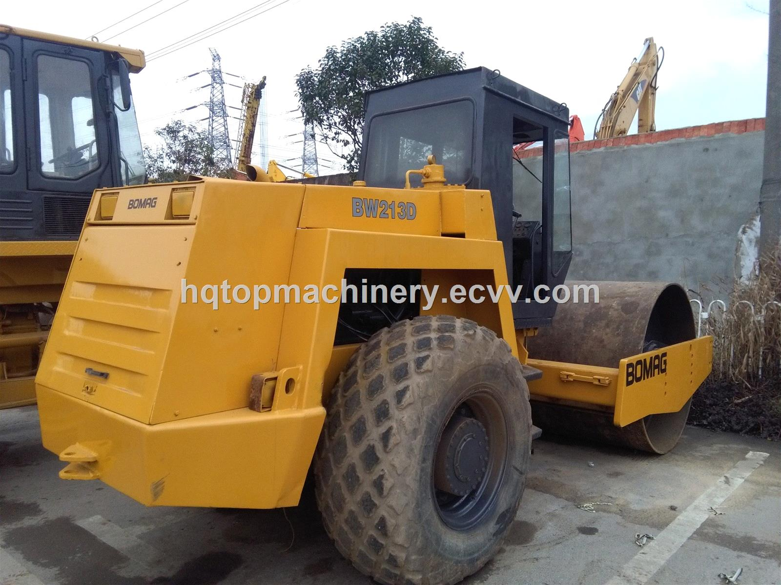 Used bomag 213d bw213d road roller original yellow color for Soil yellow color