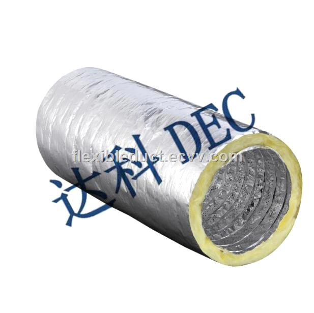Noise Reduction 6 Inch Insulated Flexible Hvac Duct Fast
