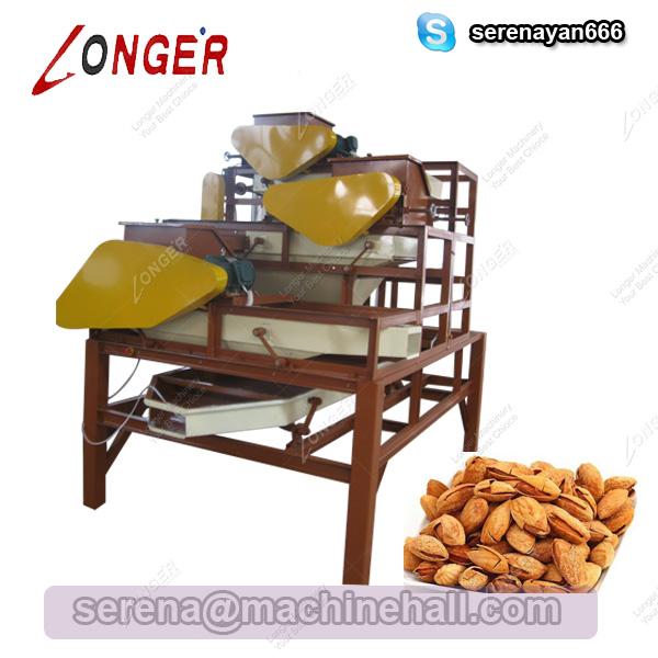 Almond Hulling Machine|Almond Three-Stage Shelling Machine|Almond Shelling Equipment Price