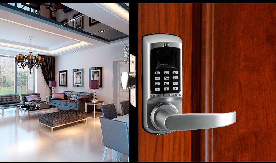 High standard code fingerprint key hotel door lock for Salt air resistant door hardware