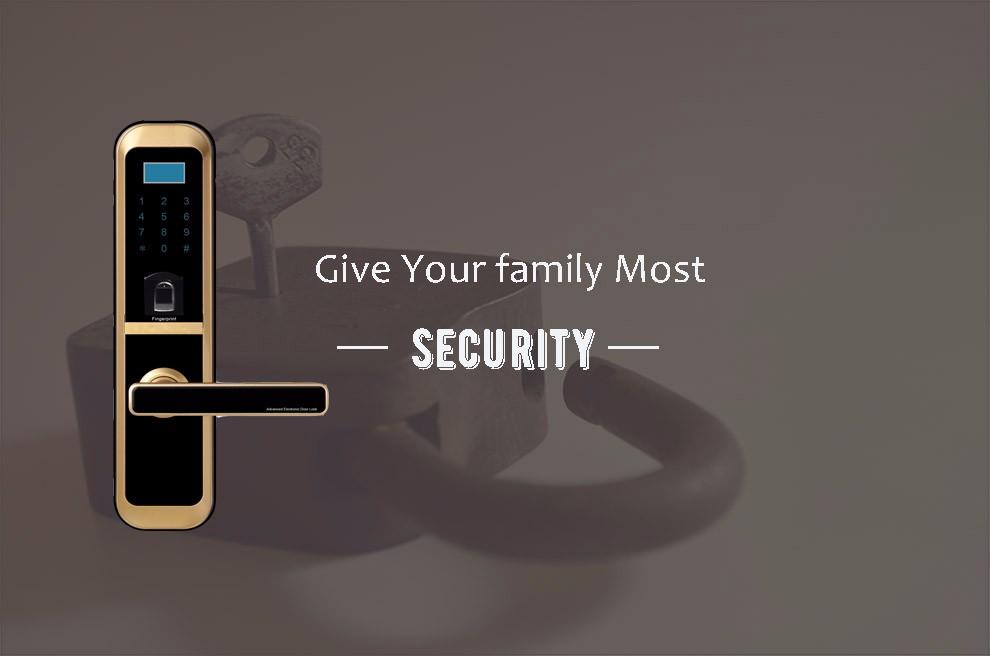 Zinc Alloy Touch Screen Smart Keyless Digital Electronic Digital Mechanical Code Door Lock